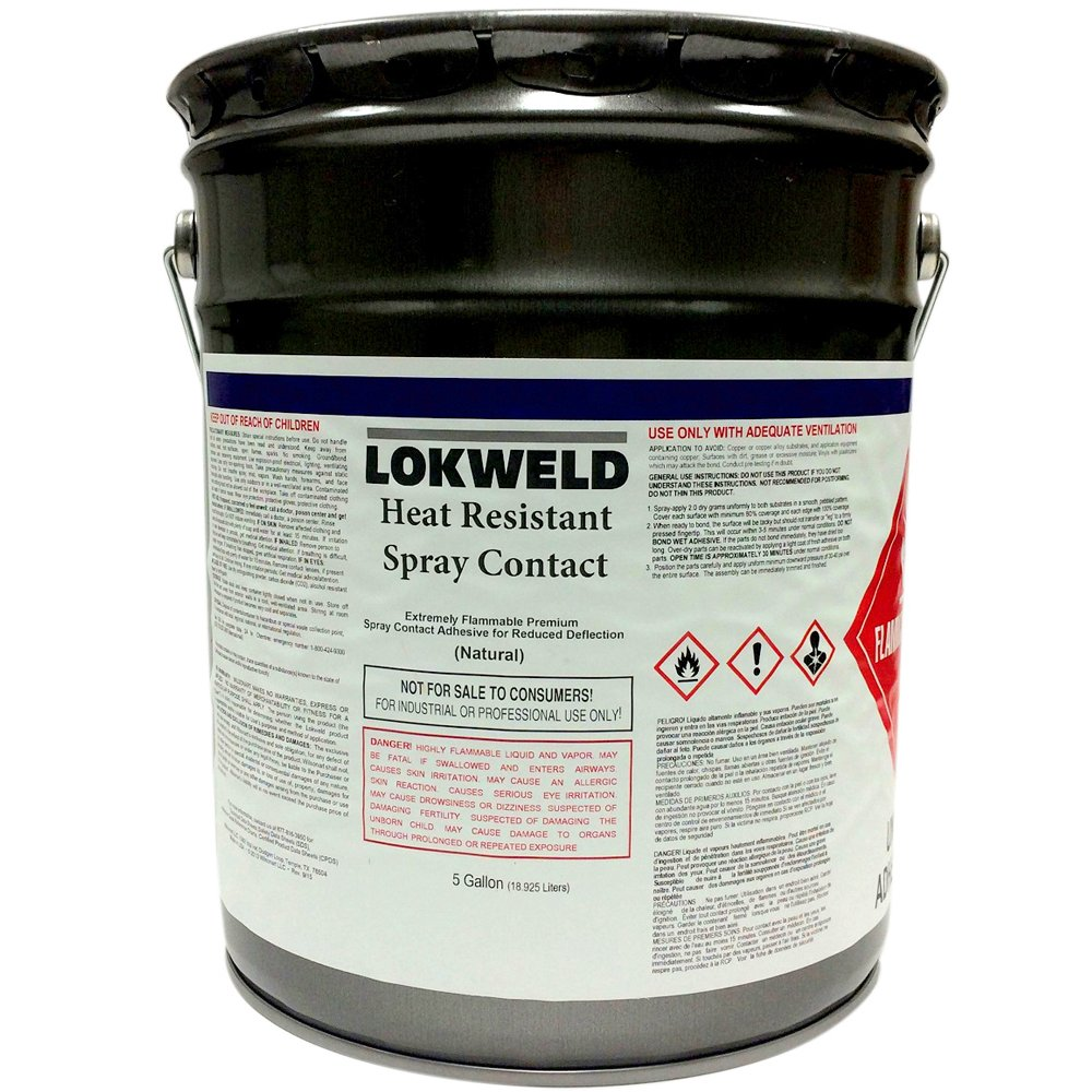 Lokweld Heat Resistant Contact Adhesive - 5 Gallons
