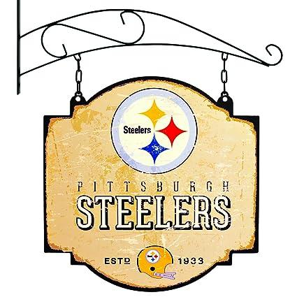 Amazon.com: NFL Pittsburgh Steelers taberna Sign, Las ...