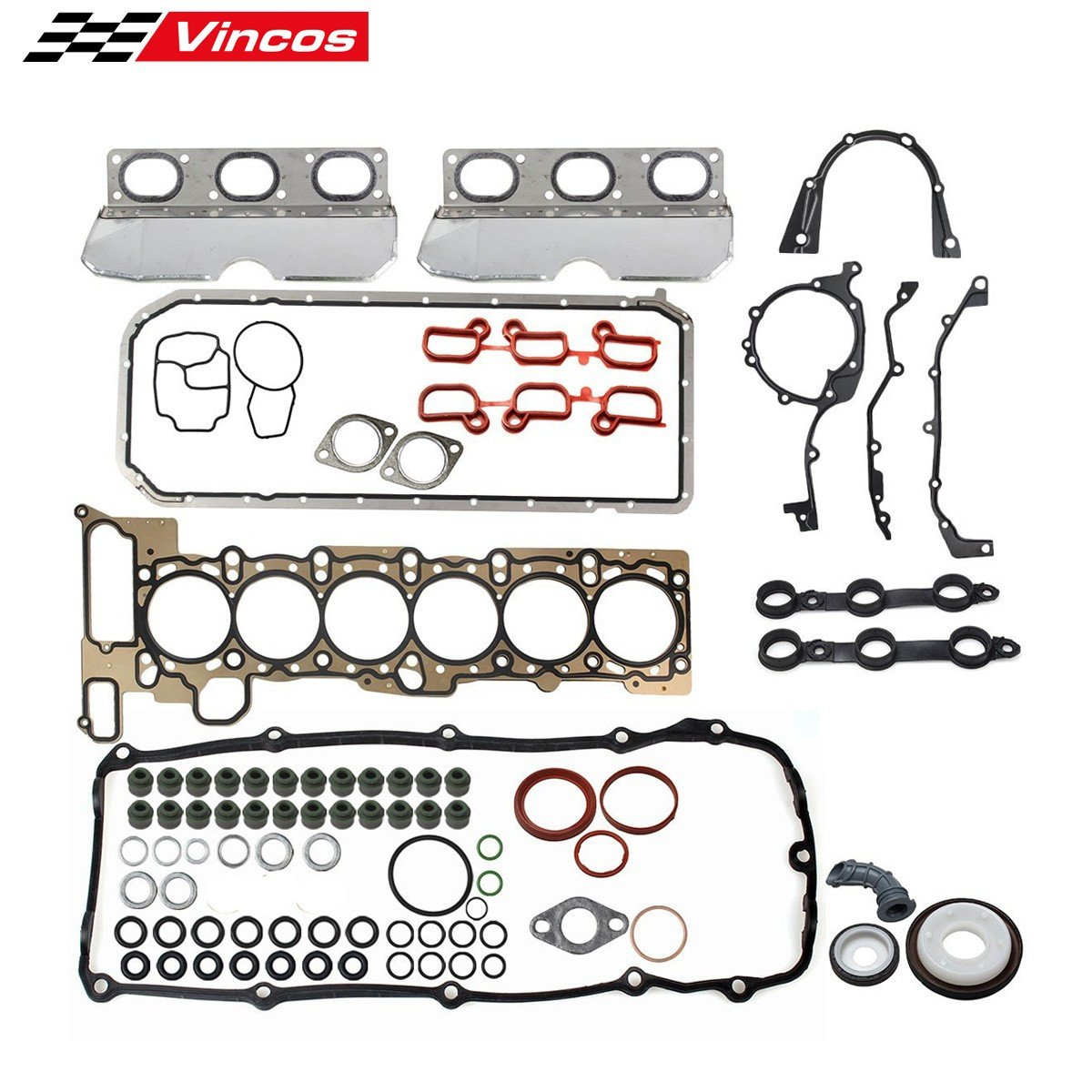 PartsSquare Cylinder Head Gasket Set Fits For 01-06 BMW 3 5 X 3 X5 Z3 Z4 2.5L 3.0L DOHC L6
