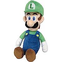 Sanei Super Mario Bros Luigi Plush Toy, 15-Inch Height, Blue