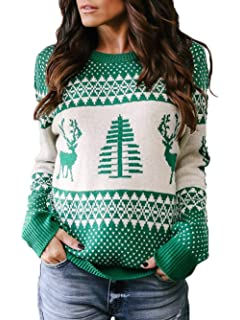 3610778bf5557 Amazon.com  Franterd Merry Christmas Tops Women Christmas Tree Elk ...