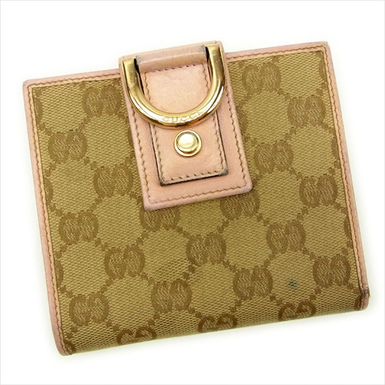 [グッチ] Gucci 二つ折り財布 ラウンドファスナー レディース GGキャンバス 中古 Y5618 B0772Q33ND