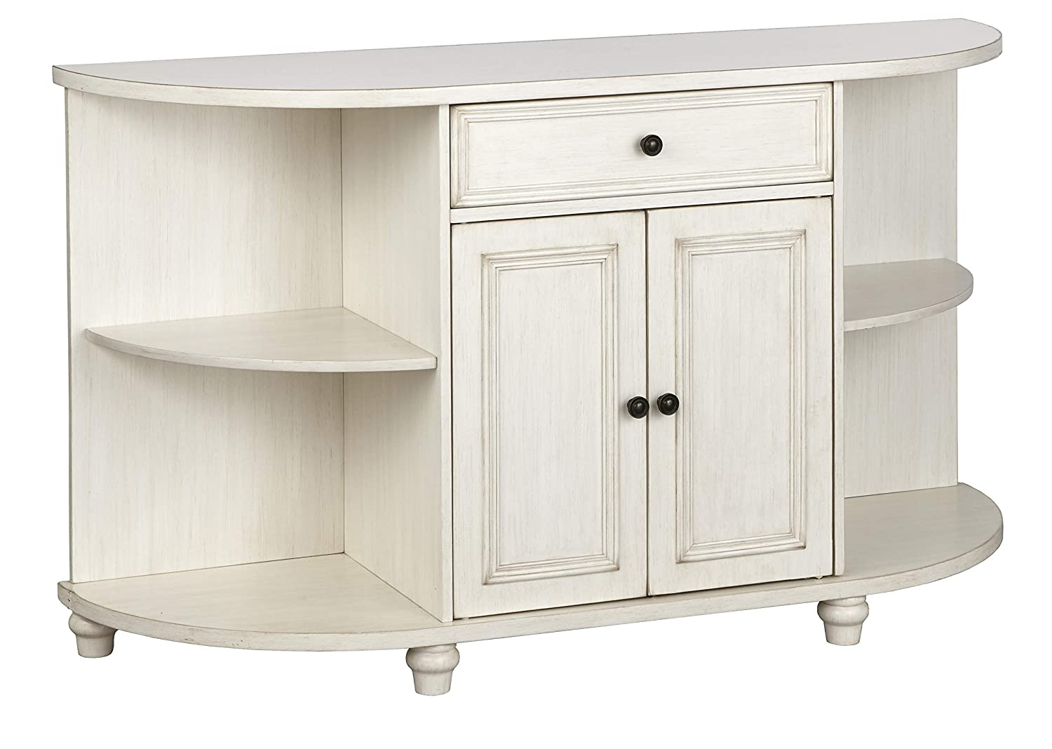 "The Mezzanine Shoppe 51000AWH Grace Mid Century Modern 2 Door Dining Room Buffet, 60"", White"