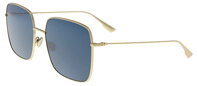 5ac9771c73 Christian Dior Diorstellaire1 LKS Gold Blue Diorstellaire1 Square Sunglasses   Amazon.co.uk  Clothing