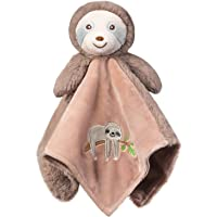 BORITAR Baby Security Blanket Super Soft Plush Fabric Stitching Design Lovey Blanket with Lovely Sloth Pattern, Stuffed…