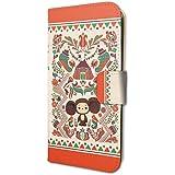 チェブラーシカ 02 ロシアン・クラフト 手帳型スマホケース iPhone6/6S/7/8兼用