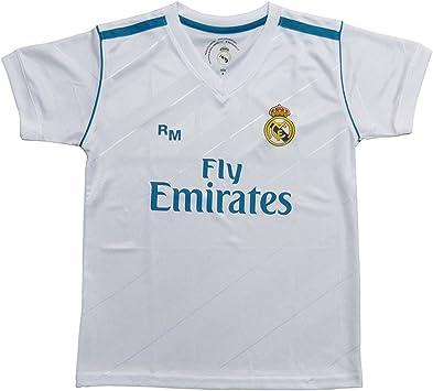 Personalizador Kit 1ª Equipación Replica Oficial Real Madrid 2017-2018 Dorsal Liso (Talla 6 años): Amazon.es: Deportes y aire libre