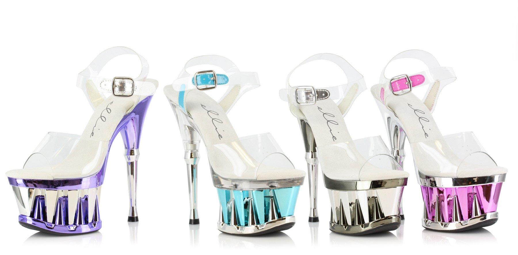 Ellie Women's Clarity Platform Shoes,Silver ABS,5 M US
