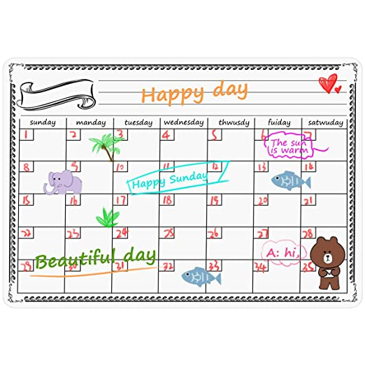 NATUCE Calendario Magnético para Nevera, 42 * 33 cm Ideal ...