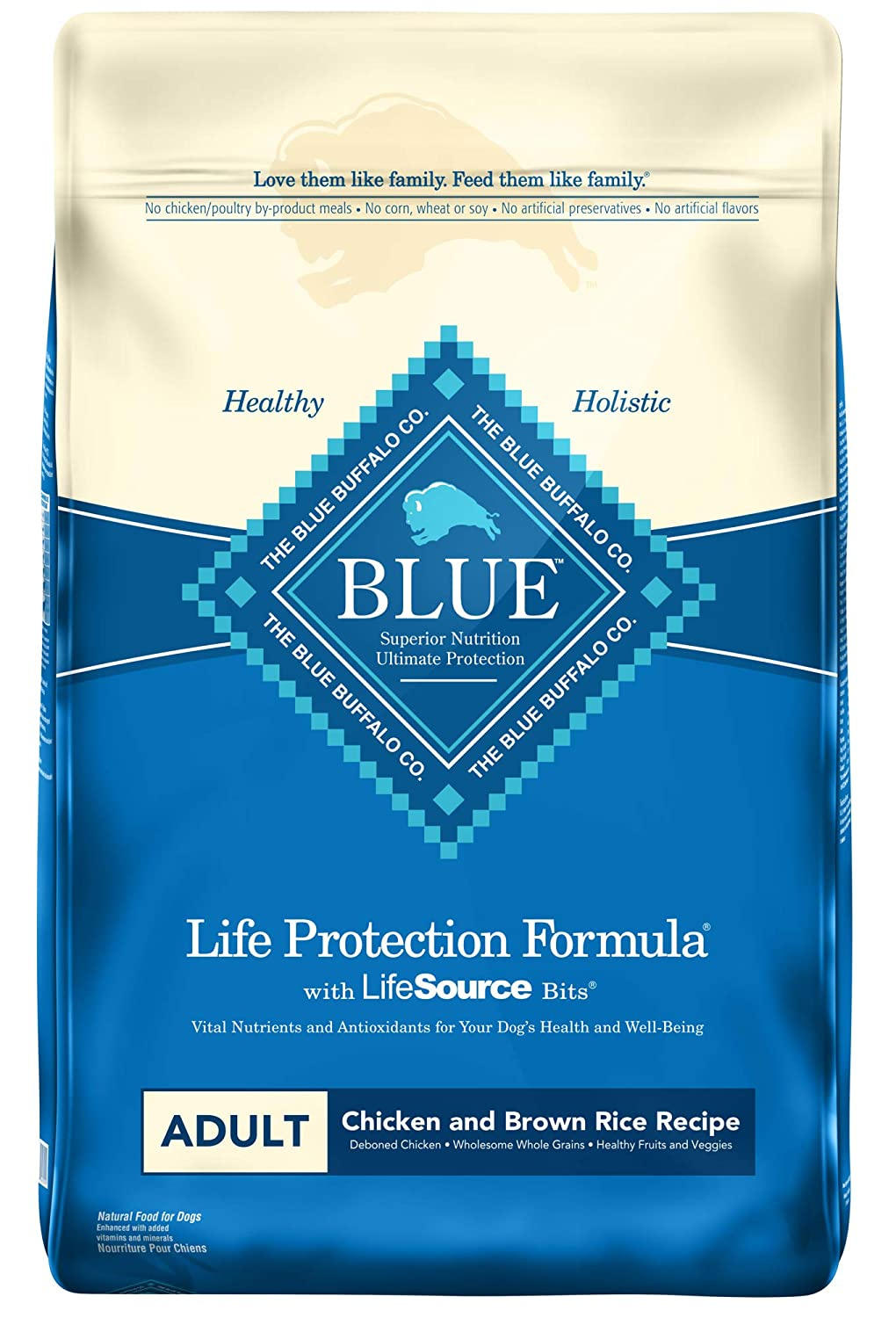 1. Blue Buffalo Life Protection Formula Dry Dog Food