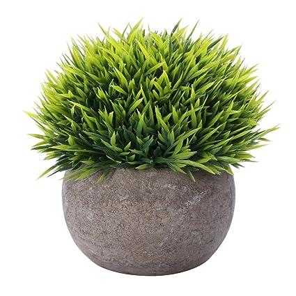 Houda Plante Artificielle Herbe Verte Des Plantes Avec Pots Pour Salle De Bain Home Decor Petite Simili Verdure Artificielle Pour Maison Decorations