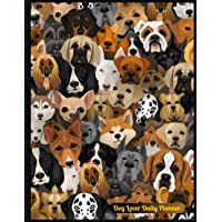 Dog Lover Daily Planner: 100 Pages Undated Daily / Hourly Schedule Pages with Various Dog Clip Art to Plan and Create…