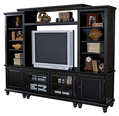 Hillsdale Grand Bay Small Entertainment Wall Unit   Black