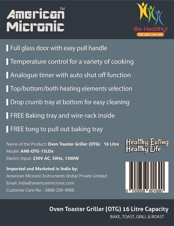 Buy American Micronic AMI-OTG-15LDx 15-Liter OTG (Silver) Online at ...
