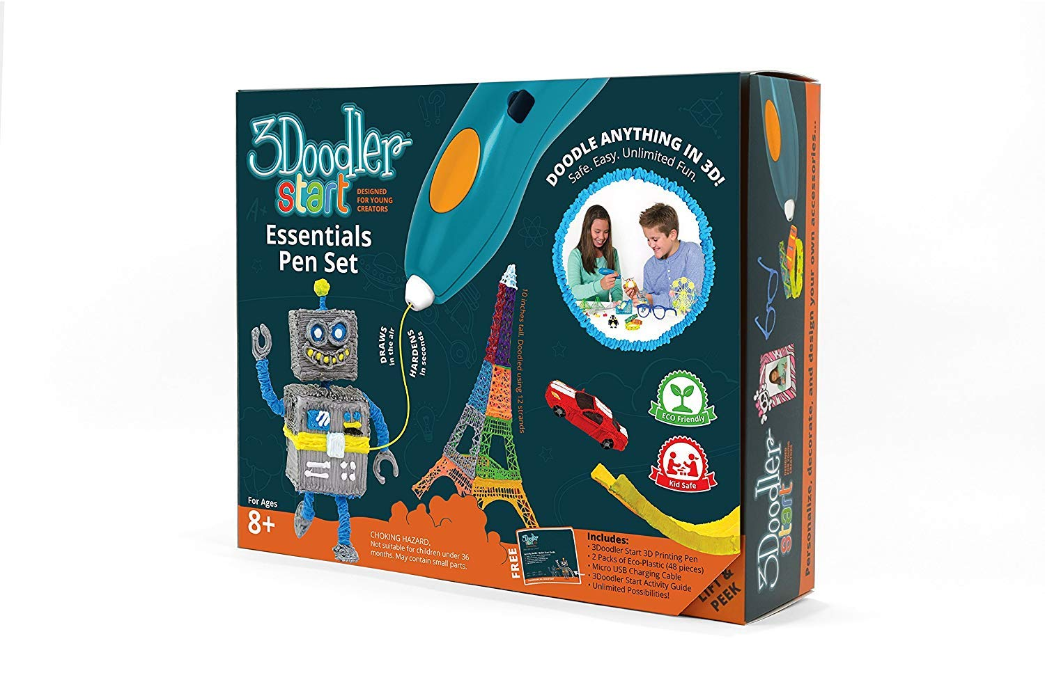 3Doodler Start Essentials 3D Pen Set For Kids with Free Refill Filament - STEM Toy For Boys & Girls, Age 6 & Up - Toy of The Year Award Winner by 3Doodler (Image #4)