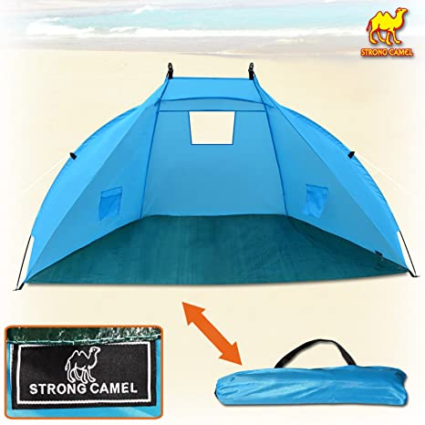 0ccafe134f2b Image Unavailable. Image not available for. Color  Strong Camel Fishing  Beach Tent Camping Hiking Picnic Sunshade Shelter Canopy Sport Sun Shelter  Outdoor