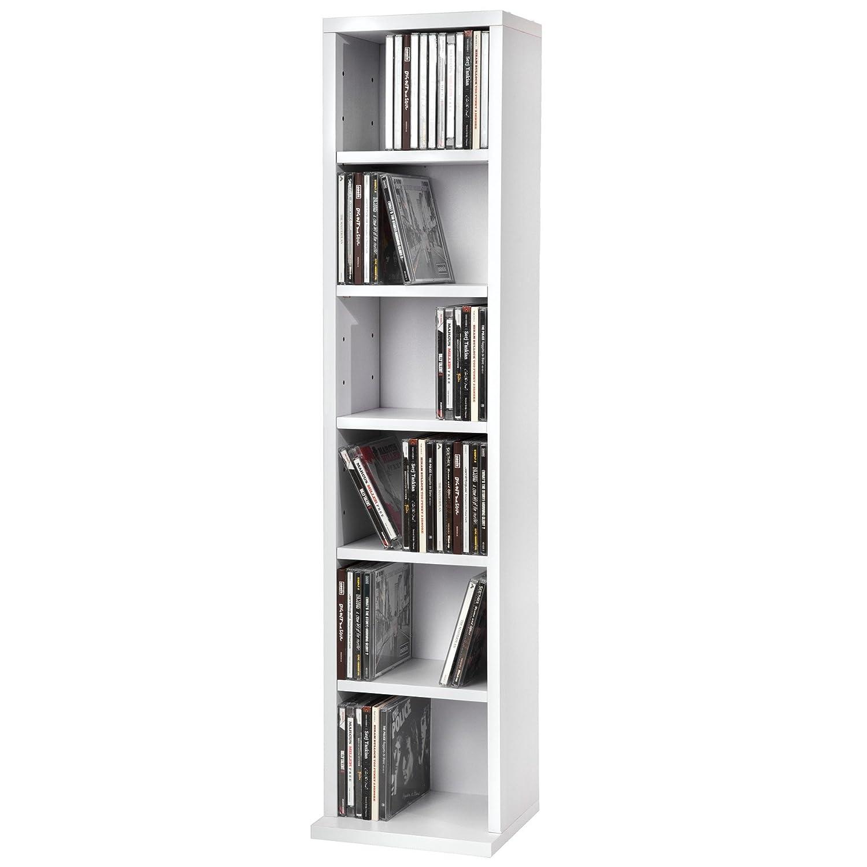 Tectake Tag Re Rangement Cd Dvd Meuble De Rangement Pour 102  # Detourner Un Meuble Cd De Chez Ikea
