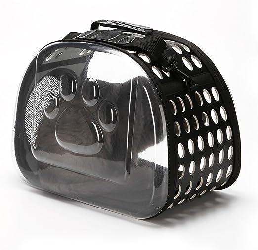 PETCUTE Trasportín para Gatos Bolsa de Transporte para Gatos de Viaje para Mascotas Portador para Gatos Plegables: Amazon.es: Productos para mascotas