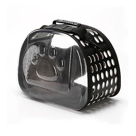 PETCUTE Bolsa de Viaje para Mascotas Portador para Gatos, Ligera y transportable, transportin para