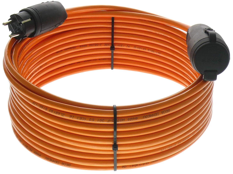 netbote24® Schutzkontakt Pur-Verlängerungskabel H07BQ-F 3x1, 5 bis 3x2, 5 mm² IP44 Außenbereich Baustelle 230V 16A (3G1, 5; 5m) maxgo