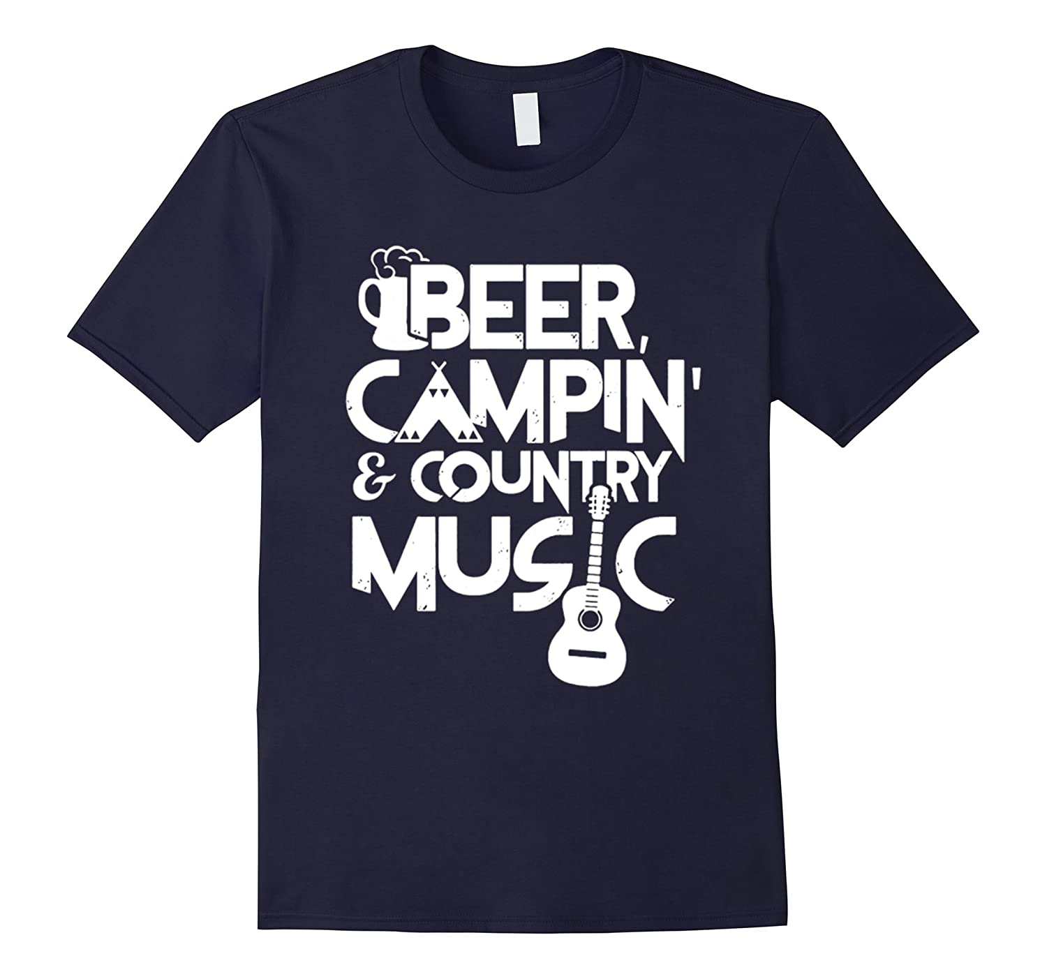 Beer Camping Country Music T Shirt-TH
