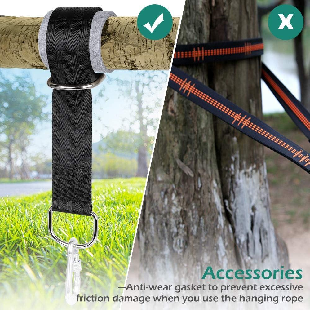 Globalqi Swing Cinghie ad Alta Resistenza portante Outdoor Regolabile Corde Altalena con moschettone Adatto per Amaca da Campeggio Yoga Allenamento