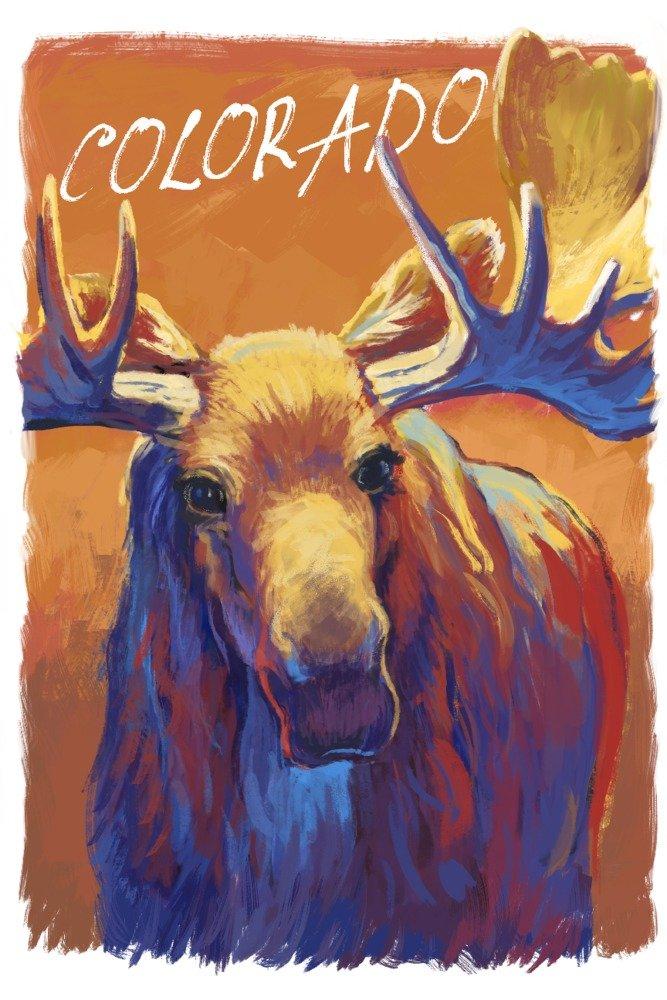 コロラド – ムース – Vivid 24 x 36 Giclee Print LANT-83989-24x36 B077V4PJW7  24 x 36 Giclee Print