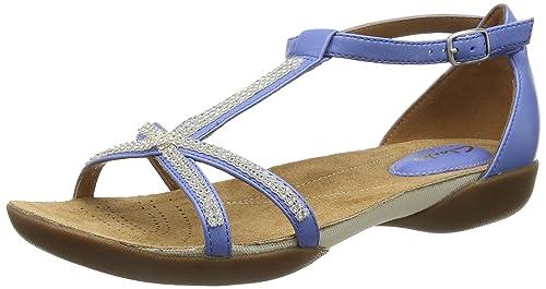 23b93aebe Clarks Raffi Star Damen T-Spangen Sandalen  Amazon.de  Schuhe ...