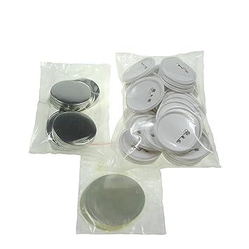 Sol 75 mm Chapas de en blanco y botones de repuesto para botón de insignias y