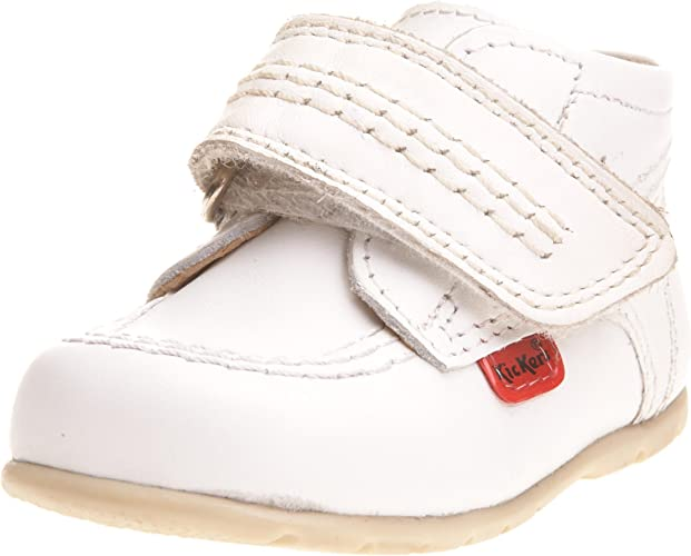 Kickers Toddler Kick Hi B Strap White