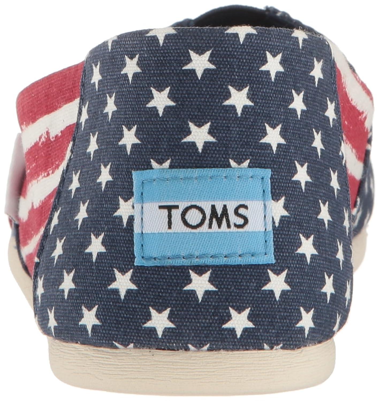 TOMS Women's 10009760 Red/Navy Americana Alpargata Flat YYdxyHB