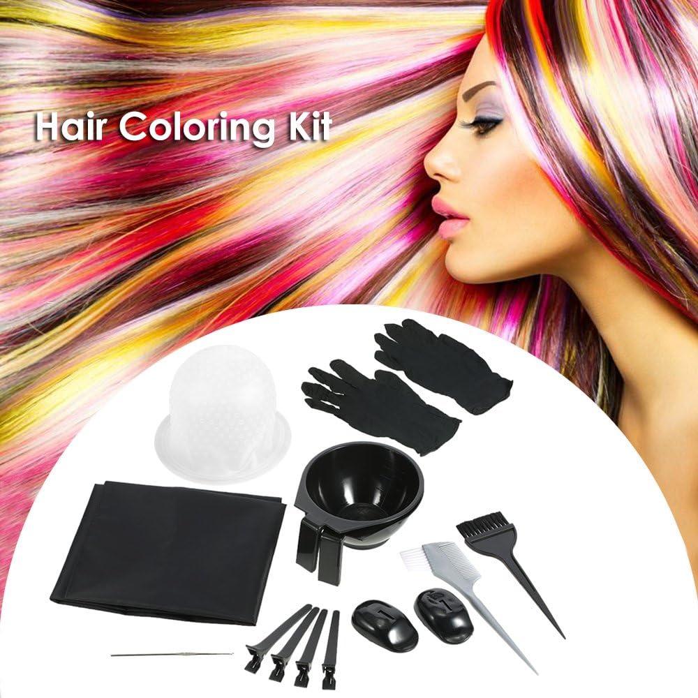 Anself 13pcs Hair Dyeing Kit Colouring Bowl Brush Salon Apron Hair Cap Hook Sectioning Clips WAS £11.65 NOW £6.99 w/code TJVCFS7B @ Amazon