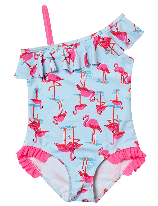 Jxstar Kid Toddler Swimsuit Girls Cute Swan Bathing Suit One Piece Swimwear