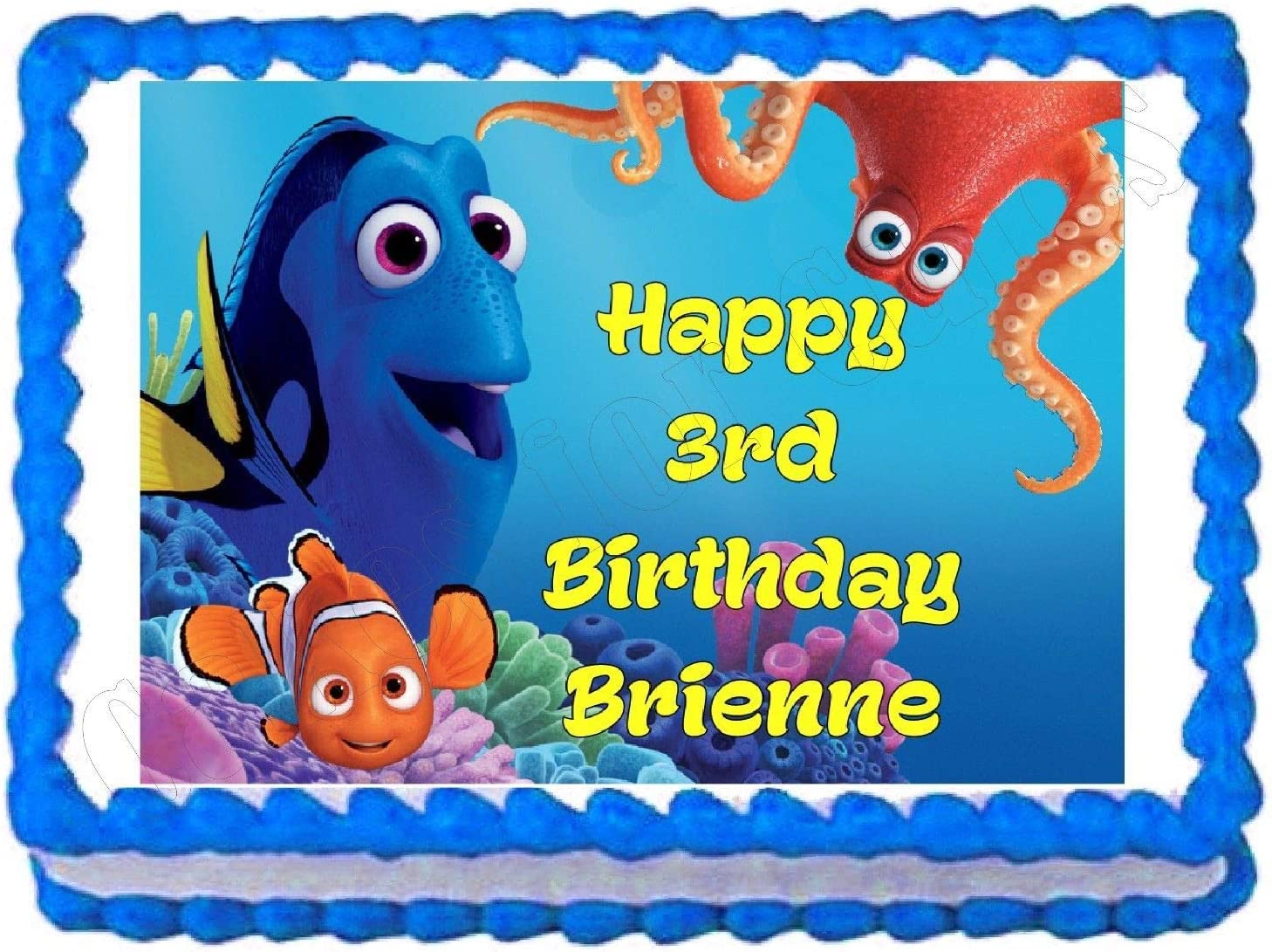 personalized free! Finding Nemo edible cake image topper party decoration