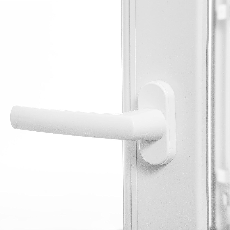 Fenster Kunststoff 2-fach-Verglasung LAGERWARE verschiedene Ma/ße BxH: 80x40 cm Kellerfenster wei/ß 60mm Profil DIN rechts