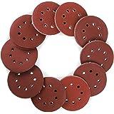 Coceca 160pcs Orbital Sandpaper Sanding Discs 5 Inches 8 Hole Hook and Loop, 20pcs Each 40 80 100 120 150 180 and 10pcs Each