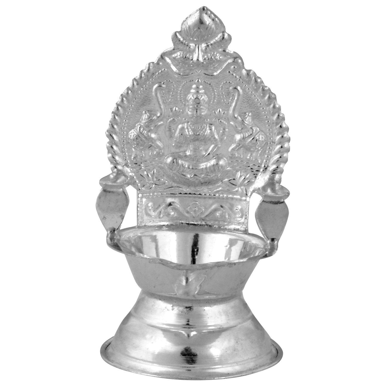 Buy Silverslane Silver Kamatchi Deepam (L x B x H -4 x 4 x 7 cms ... for Silver Kamatchi Lamp  110zmd