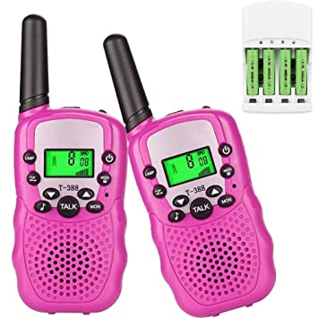 Walkie Talkie niños PMR 446 con pilas recargables y cargador Aparato para niños y adultos Walkie Talkie juguete linterna Vox 8 canales 0,5 W