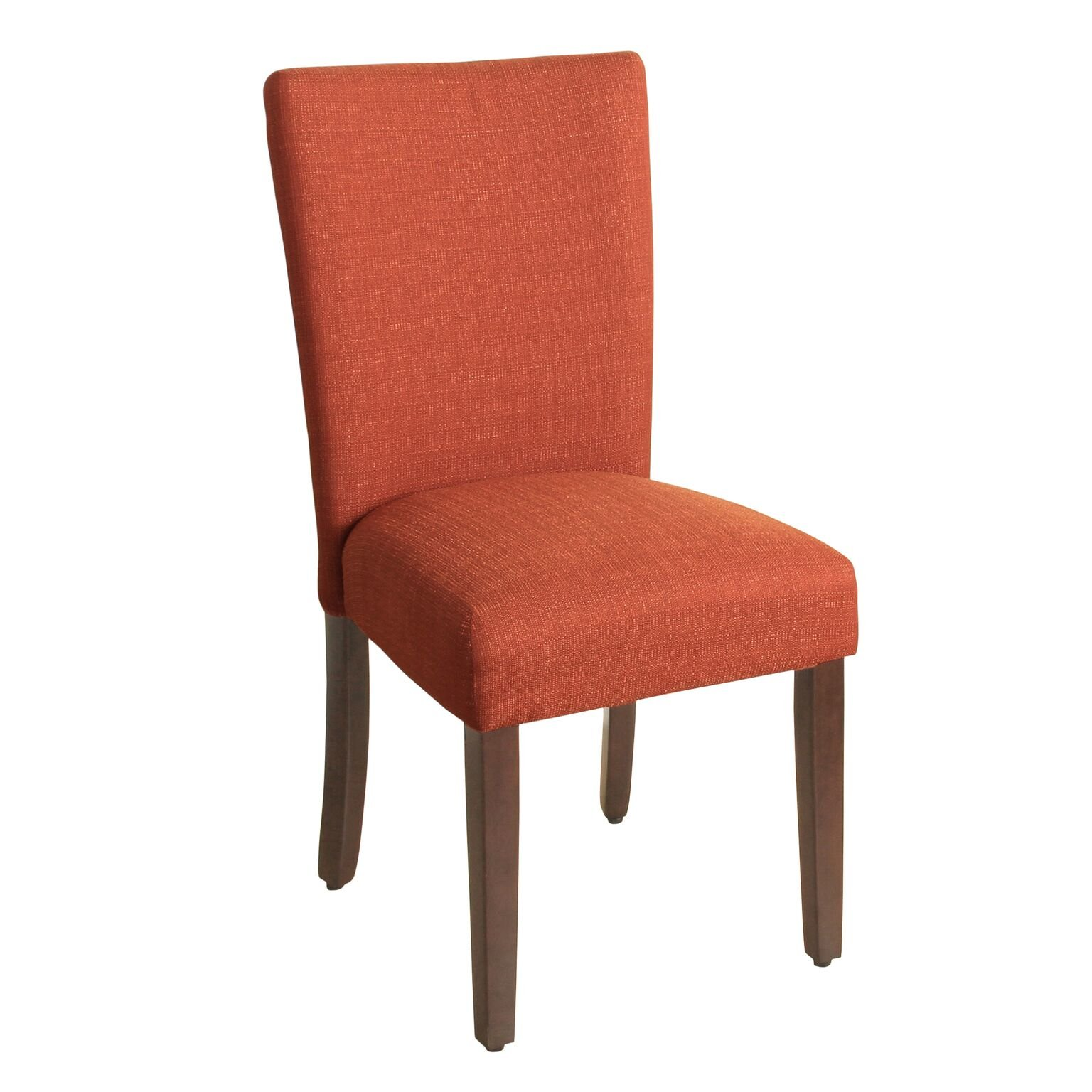 HomePop Parsons Classic Upholstered Accent Dining Chair, Single Pack, Orange