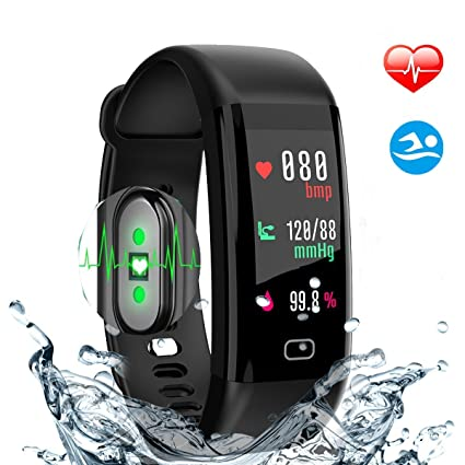 HDTOSNER Pulsera Inteligente, Impermeable IP68 Pulsera Actividad, Bluetooth 4.0 Fitness Tracker Con Ritmo Cardíaco
