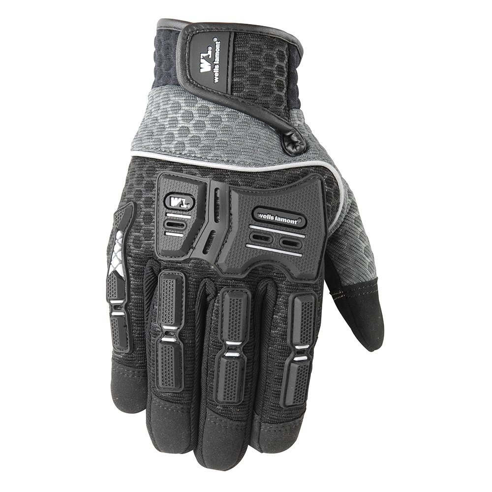 All Purpose Work Gloves, Hi-Dexterity, Touch-Screen Capable, Knuckle Protection, Large (Wells Lamont 7682L)