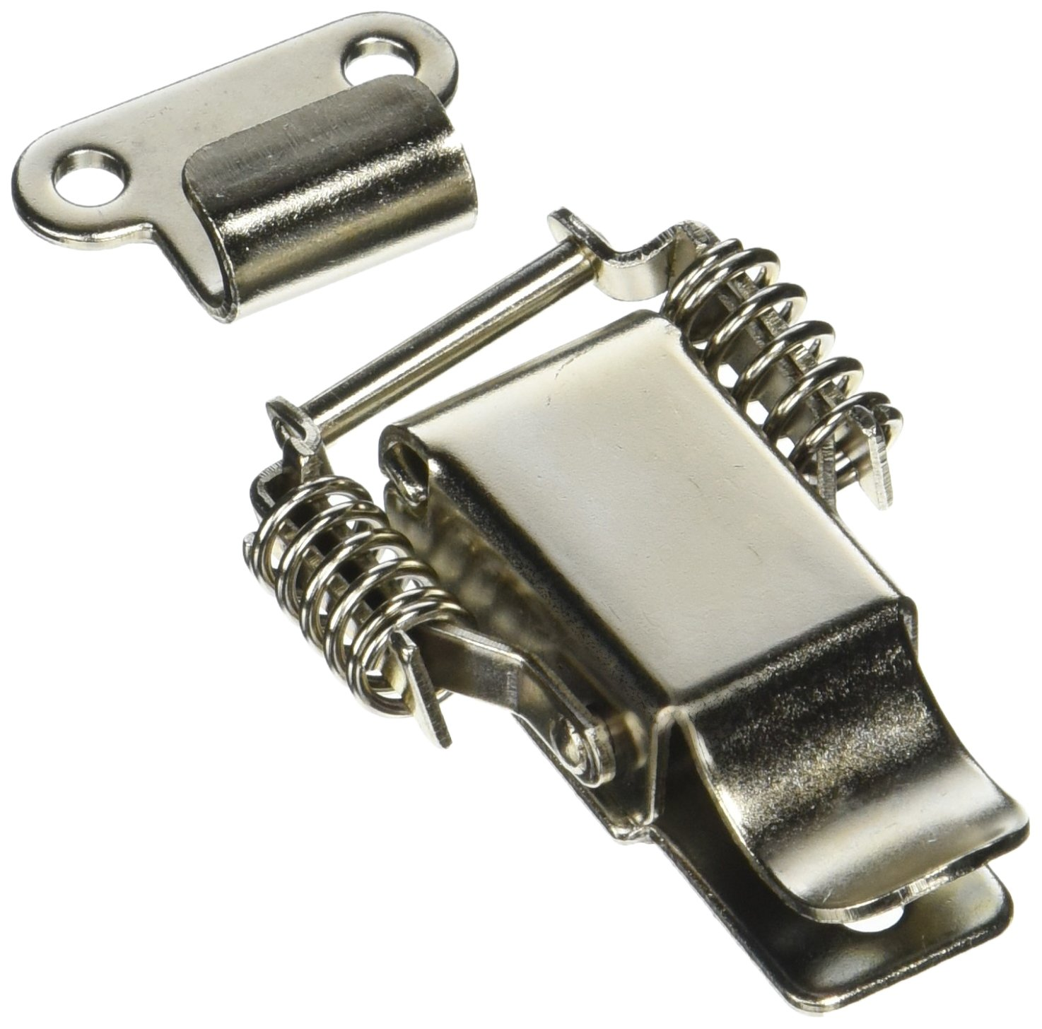 2 Set Aviation Toolbox Silver Tone Metal Draw Toggle Latch Catch 73mm