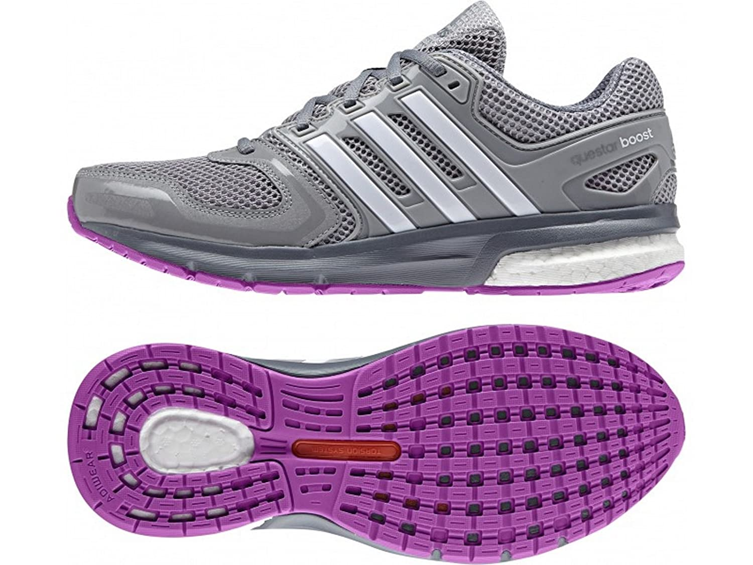 half off 048e9 11177 Adidas Questar Boost Ladies Womens Running Shoes  Amazon.co.uk  Sports    Outdoors