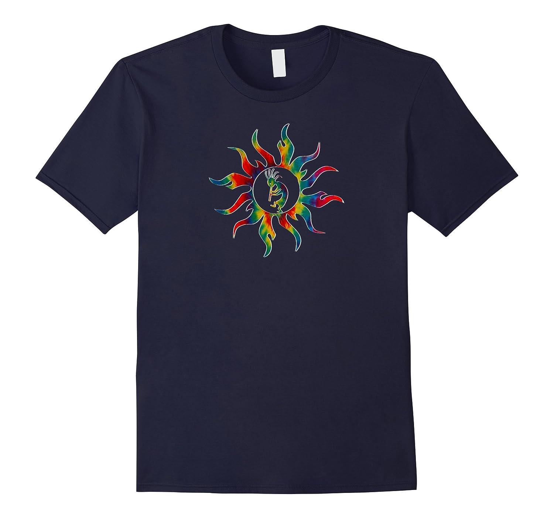 Kokopelli Native Tribal Sun T-Shirt Tie Dye-FL