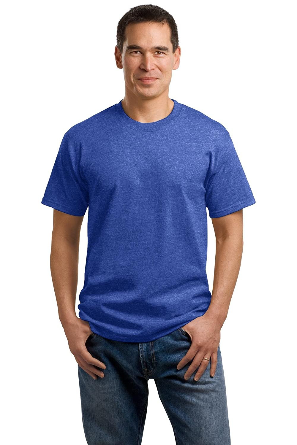Port /& Company/® 5.4-oz 100/% Cotton T-Shirt Heather Royal* Small