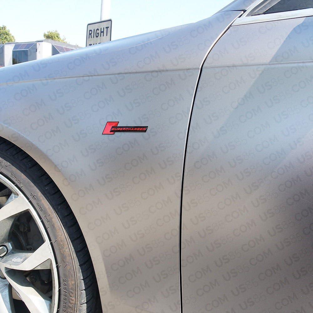 Sanucaraofo 2pcs OEM Supercharged Badge Emblems 3D Decal for Audi Tt A3 A4 A5 A6 A7 A8 Q3 Q5 Q7 S4 S6 S5 Rs5 Matte Black