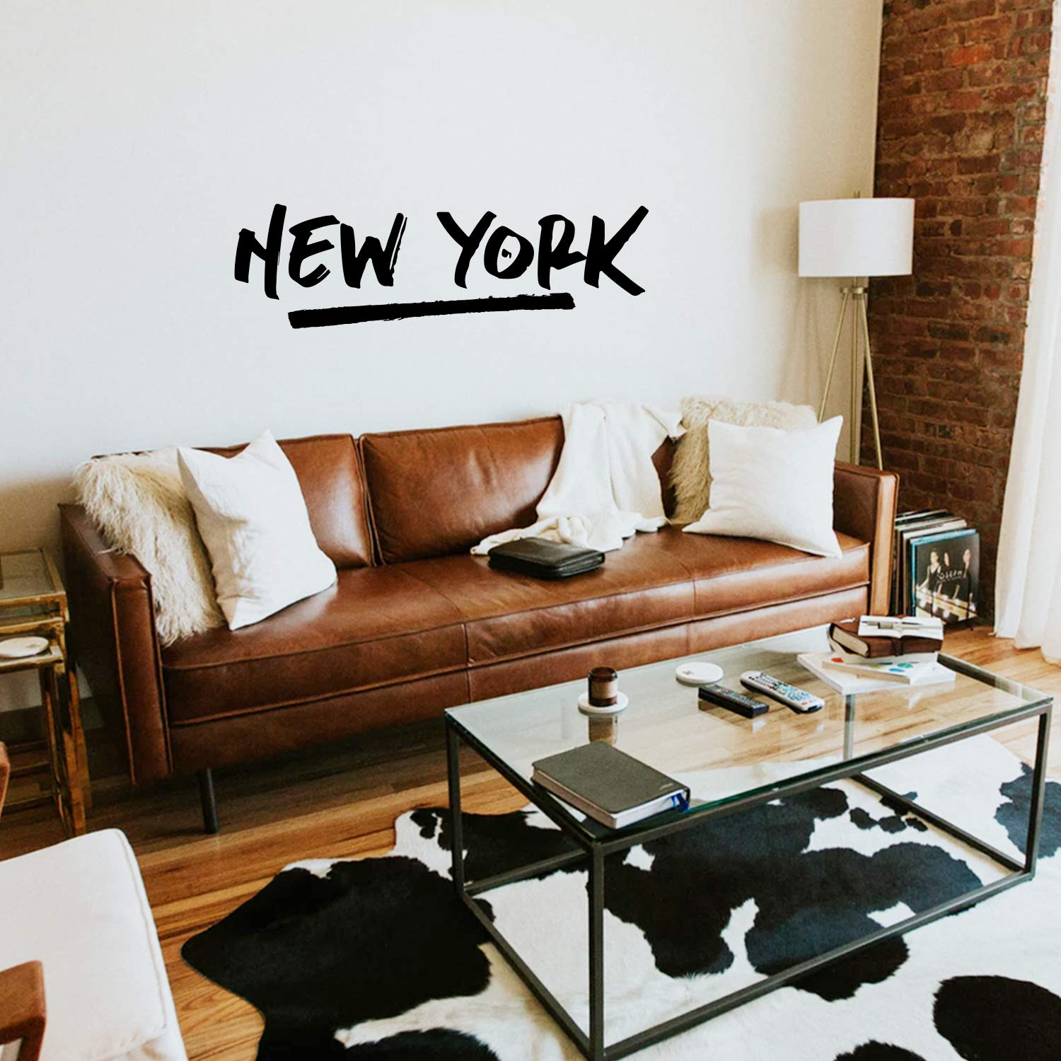 """Vinyl Wall Art Decal - New York - 15"""" x 50"""" - Cool Stencil Text Design Modern American USA East Coast City Home Bedroom Living Room Mural Indoor Outdoor Decoration Adhesive"""