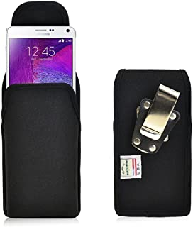 product image for Turtleback Belt Clip Case Made for Samsung Note 4 Black Vertical Holster Nylon Pouch with Heavy Duty Rotating Belt Clip Made in USA