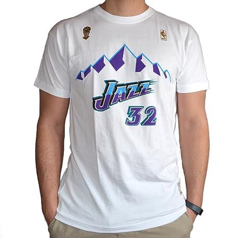 Mitchell & Ness Camiseta Retro Karl Malone Utah Jazz ...