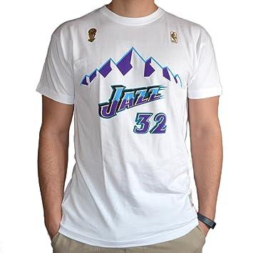 58c5b1b6812 Mitchell   Ness Camiseta Retro Karl Malone Utah Jazz (XXL)  Amazon ...
